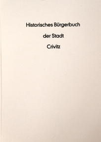 Historical Book of Citizens of the Town Crivitz book cover